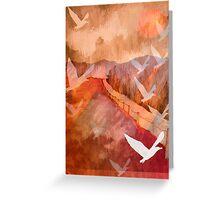 Gulls Overflying Downland Greeting Card