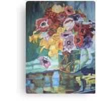 Vase fleurs mélangées Canvas Print