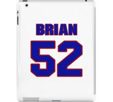 National football player Brian Ratigan jersey 52 iPad Case/Skin