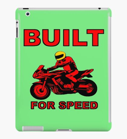BUILT FOR SPEED-2 iPad Case/Skin