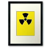 Danger Radioactive decay Framed Print