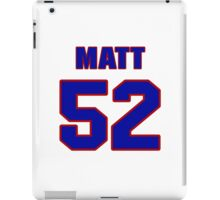 National football player Matt Stewart jersey 52 iPad Case/Skin