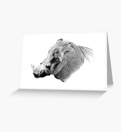 Don't Hate Me 'Cause I'm Beautiful - Warthog Greeting Card