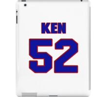 National football player Ken Tippins jersey 52 iPad Case/Skin