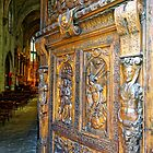 Entering the Church of St Pierre in Avignon, France by atomov