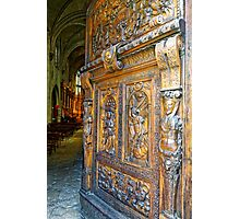 Entering the Church of St Pierre in Avignon, France Photographic Print