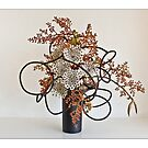 Ikebana-061 Greeting Card by Baiko
