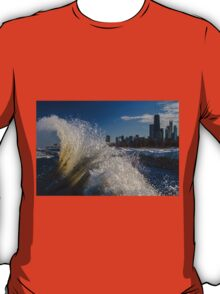 Winter Wave action in Chicago T-Shirt