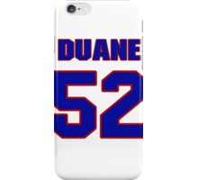 National football player Duane Benson jersey 52 iPhone Case/Skin