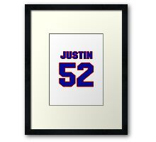 National football player Justin Durant jersey 52 Framed Print