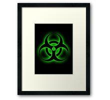 Toxic Biohazard sign Framed Print