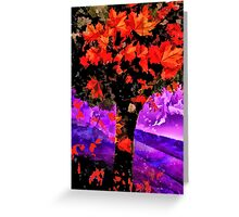The Flames Trees of Shoreham Greeting Card