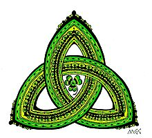 Celtic Clover Trinity Knot Triquetra Photographic Print