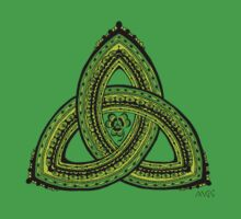 Celtic Clover Trinity Knot Triquetra by wildwildwest