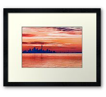 Pink and Purple Sunrise – Toronto Skyline Impressions Framed Print