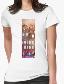 The House with the Red Umbrellas. Womens Fitted T-Shirt
