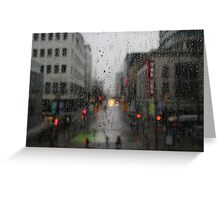 Rain drops in Vancouver Greeting Card