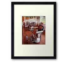 Barber - Please have a seat Framed Print