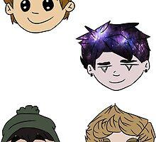 Anime 5SOS Sticker Pack by pinkeyyou