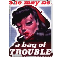She May Be a Bag of Trouble iPad Case/Skin
