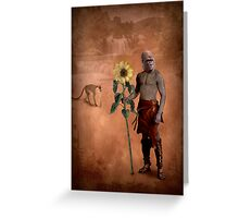 The man who loved flowers and apes Greeting Card