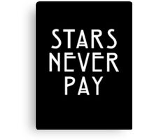 Elsa Mars Stars Never Pay Canvas Print