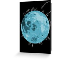 Life on the Moon Greeting Card