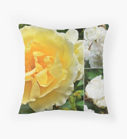 Simple Roses Throw Pillow