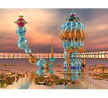 Alien Beach Resort Architecture - 3D digital art Photographic Print