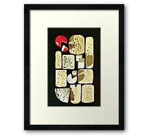 cheese two. Framed Print