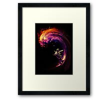 Space Surfing Framed Print