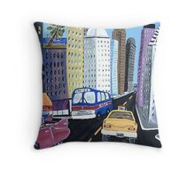 Uncle Eddy's Yellow Taxi Throw Pillow