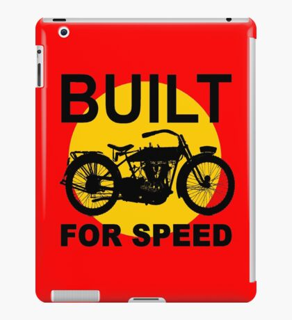 BUILT FOR SPEED-3 iPad Case/Skin