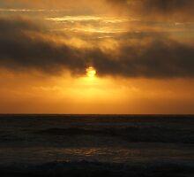 Sunset on South Beach by Edith Farrell