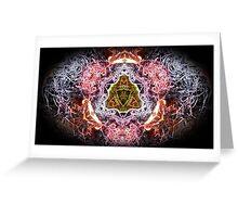 Flames 2 eliptical Greeting Card