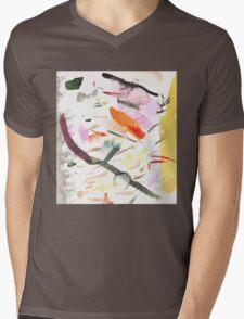yellow streak Mens V-Neck T-Shirt