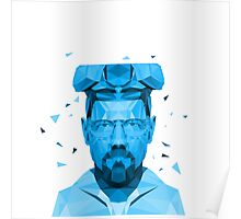 Walter White Blue Crystal  Poster