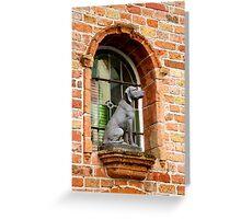 Window Watchdog Greeting Card