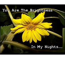 You Are The Brightness In My Nights.... Photographic Print