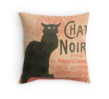 Le chat noir Manifesto Throw Pillow