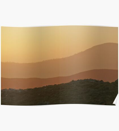 Sunset on Old Highway Route 80 Poster
