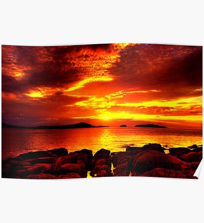 Bunbeg Fiery Sunset Poster