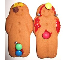 His and Hers Gingerbread Photographic Print