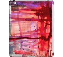 mostly red with purple iPad Case/Skin