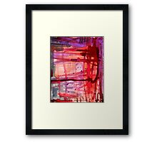 mostly red with purple Framed Print