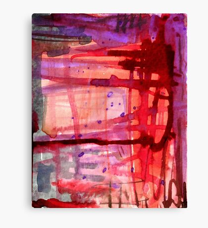 mostly red with purple Canvas Print
