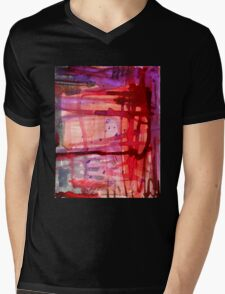 mostly red with purple Mens V-Neck T-Shirt