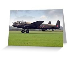 "Lancaster B.VII NX611 G-ASXX ""Just Jane"" Greeting Card"