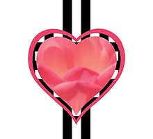 Valentine's Pink Floral Heart Decoration - Modern Design by Fig Media Design by Neve Canevese