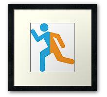 Teleporting Stickman (Portal) Framed Print